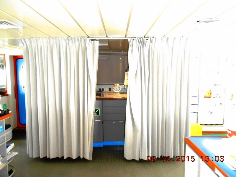 Chart Table Curtains Deck
